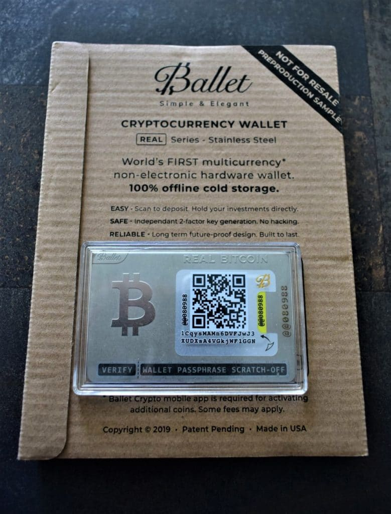 Ballet crypto wallet
