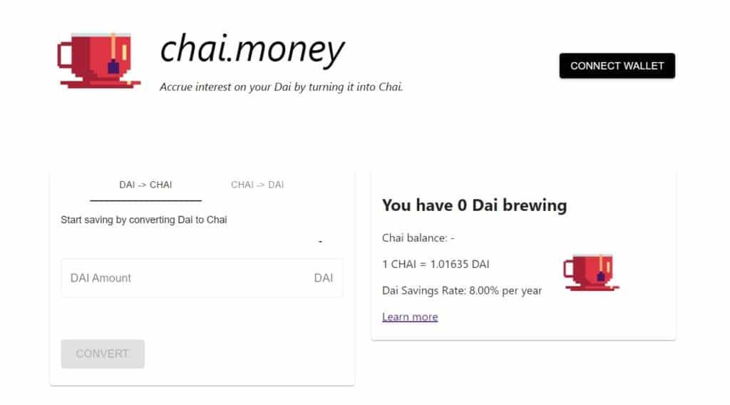Chai.money website