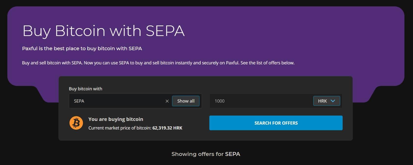 kupnja bitcoina putem SEPA naloga