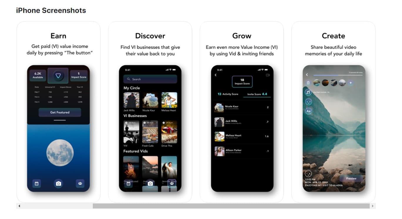 Vid mobile app