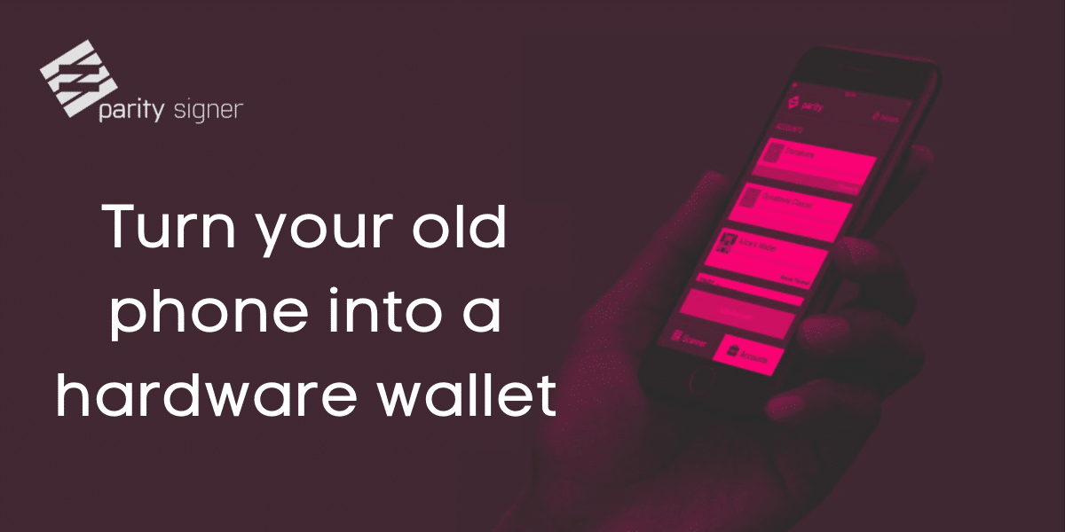 turno your old phone into a hardware wallet